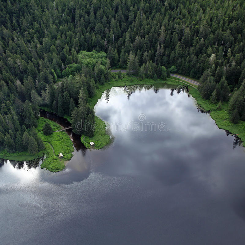 Flightseeing Misty Fjords stock foto's