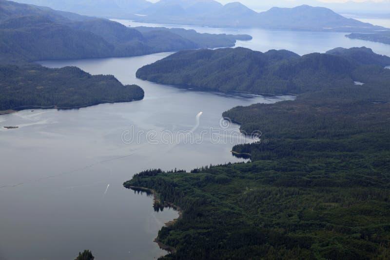 Flightseeing Misty Fjords foto de stock royalty free
