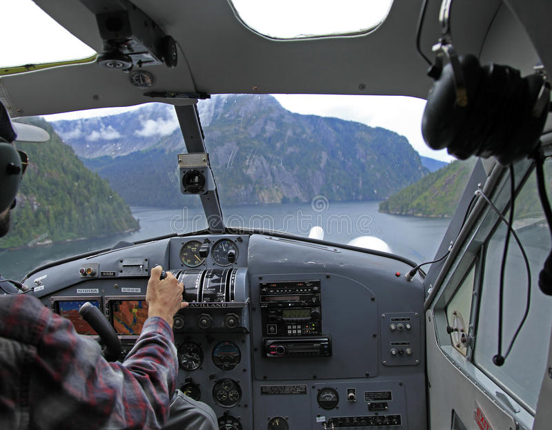 Flightseeing Misty Fjords stock photo
