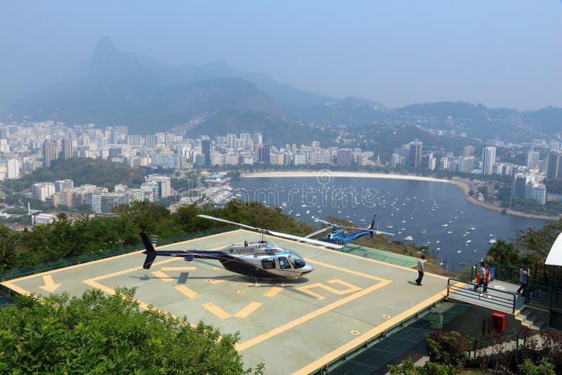 Flightseeing Rio stockfotos