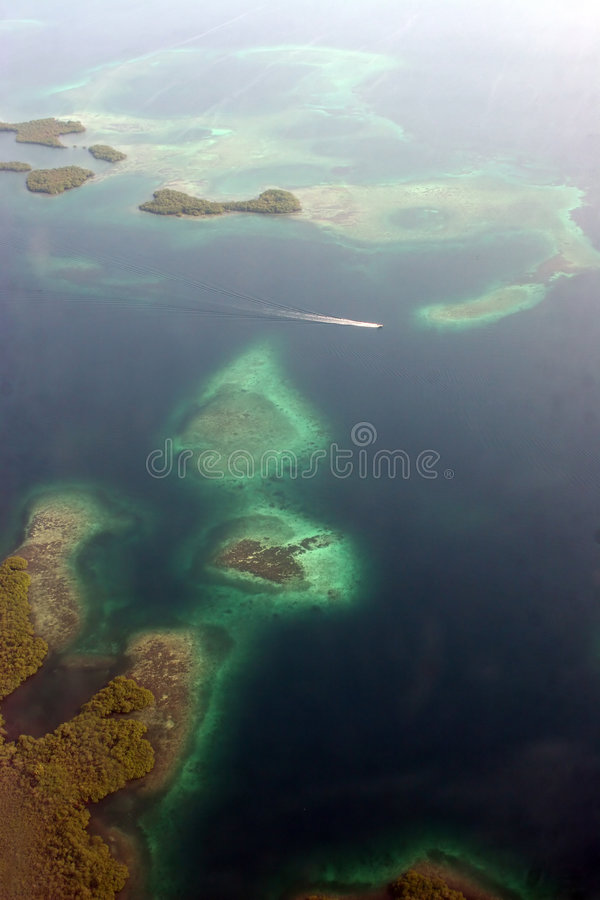 Fligth de Panama City au del Toro de Bocas photographie stock libre de droits