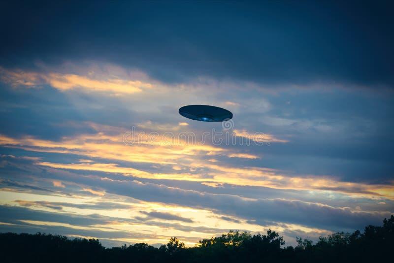 Fliing UFO stockfoto