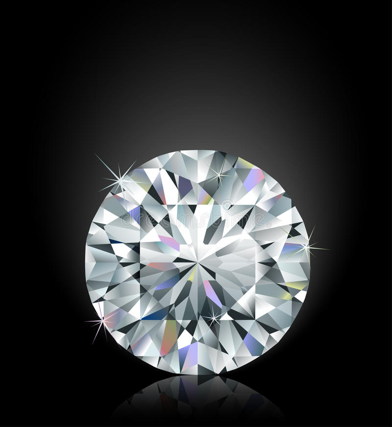 Flikkerende diamant vector illustratie