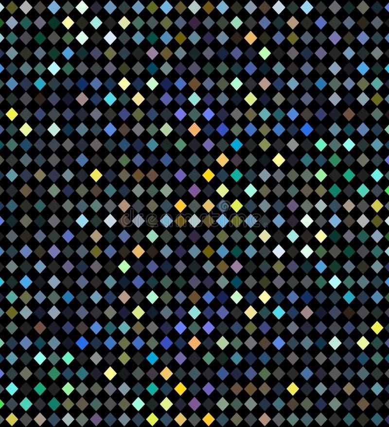 Flikkerings geometrisch patroon De partij van de vakantiedisco steekt hologramachtergrond aan Blauwe geelgroene iriserende mozaïe vector illustratie