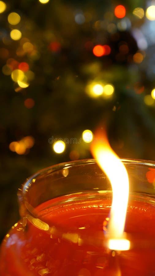 Flimrande flamma för jul royaltyfria bilder