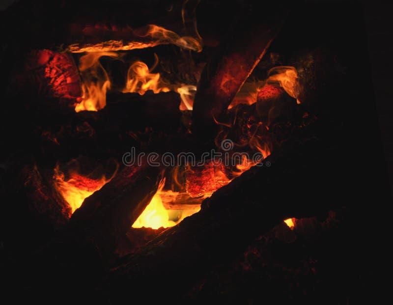 flimrande flamma för spis arkivfoton
