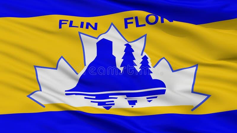 Flin Flon市旗子,加拿大,特写镜头视图 库存例证