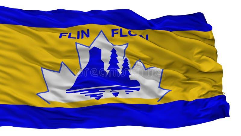 Flin Flon市旗子,加拿大,隔绝在白色背景 向量例证