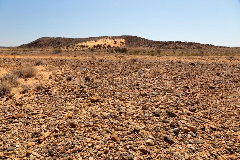Flinders erstreckt sich Landschaft. Süd-Australien. stockfotografie