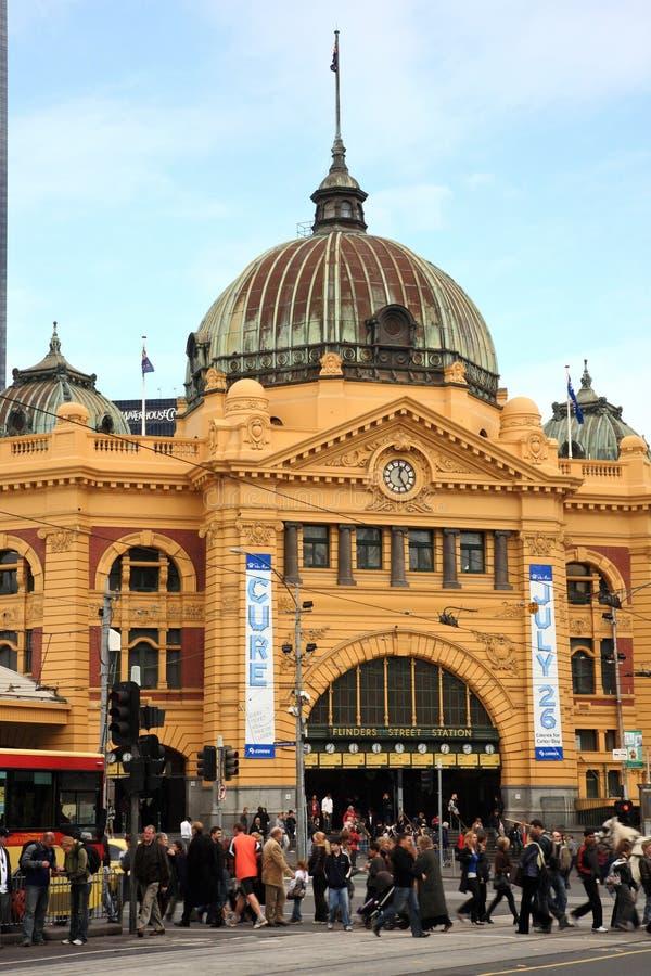 Flinders Station.Melbourne lizenzfreies stockbild
