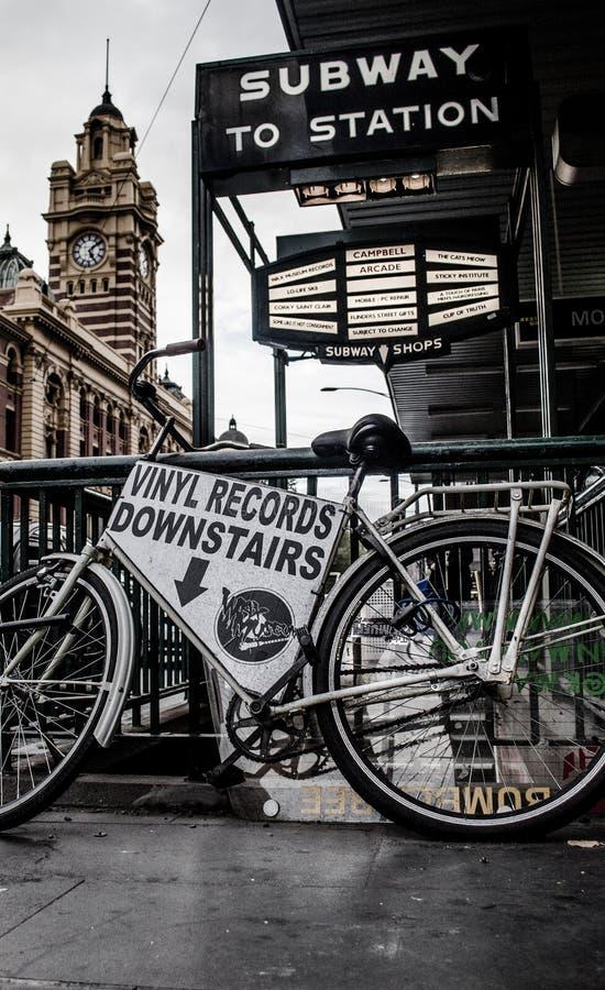 Flinders-Straßen-Fahrrad stockfotos