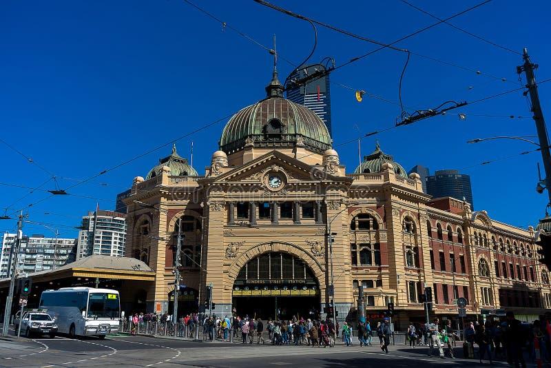 Flinders-Stra?en-Station Melbourne lizenzfreie stockfotografie