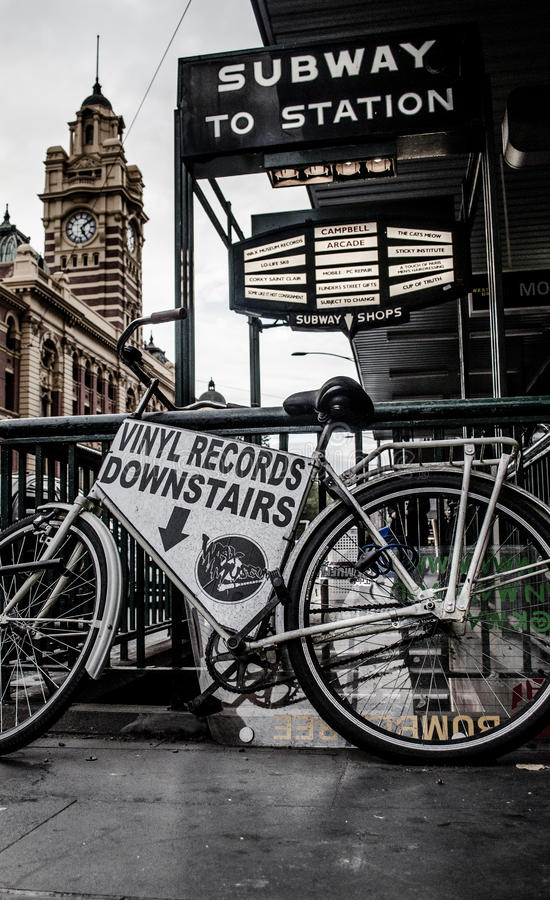 Flinders Street Bike stock photos
