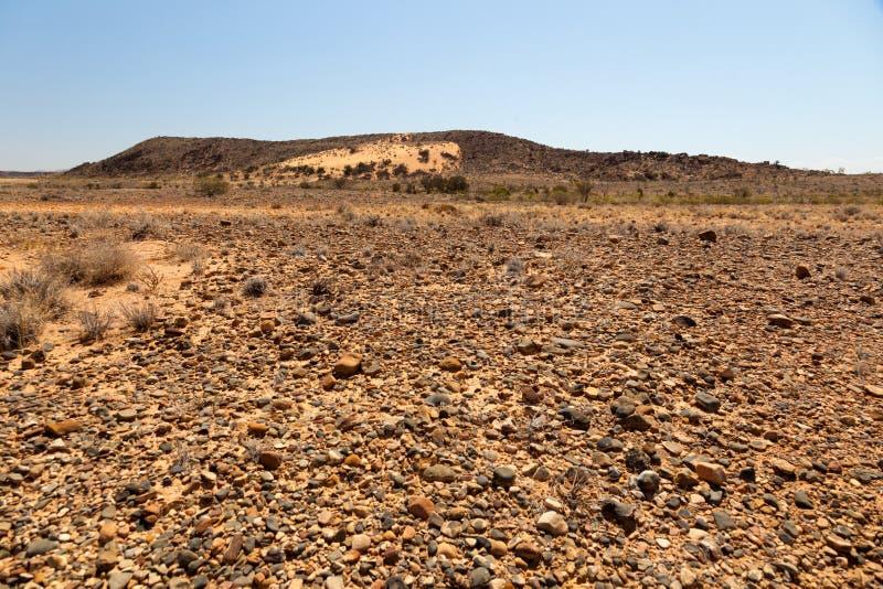 Flinders strekt zich landschap uit. Zuid-Australië. stock fotografie