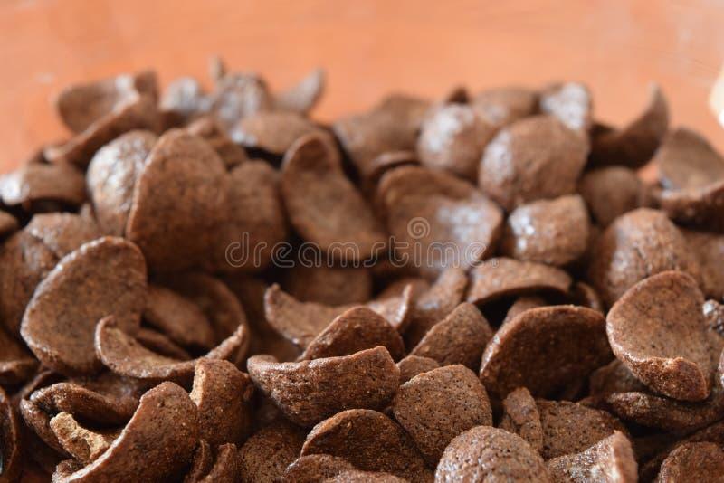 Flingor för frukostchokladhavre royaltyfri fotografi