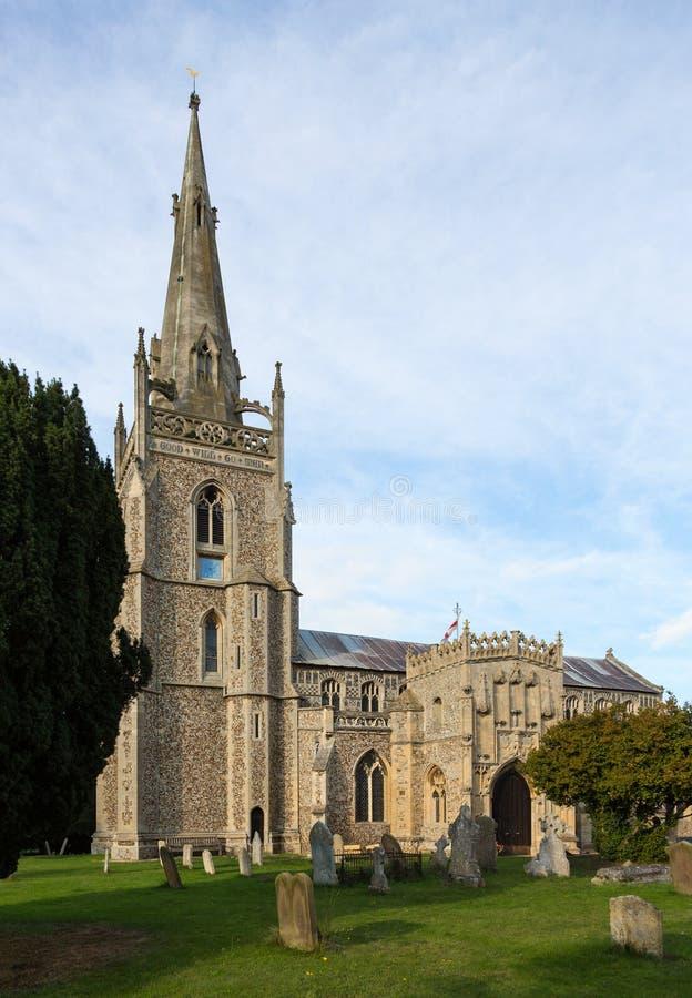 Flint church in Woolpit Suffolk royalty free stock photos