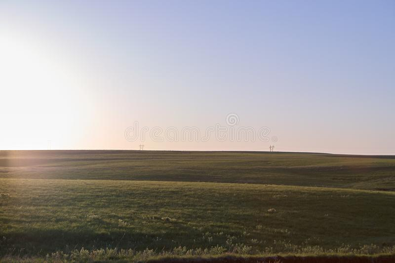 Flint Hills, Kansas landscape at sunrise royalty free stock photos