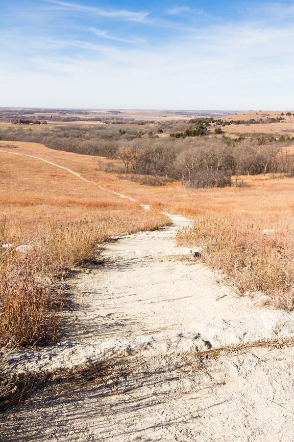 Flint Hills Prairie Path In le Kansas photographie stock