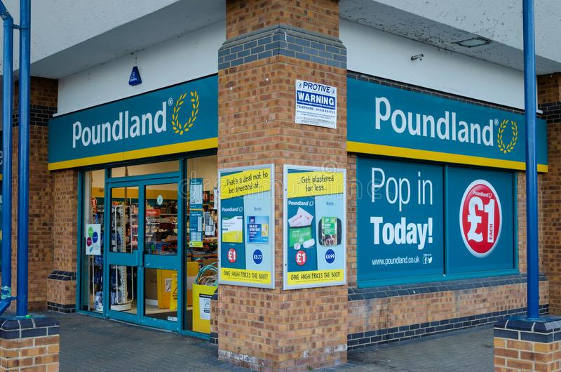 Poundand store in Flint, Wales stock photo