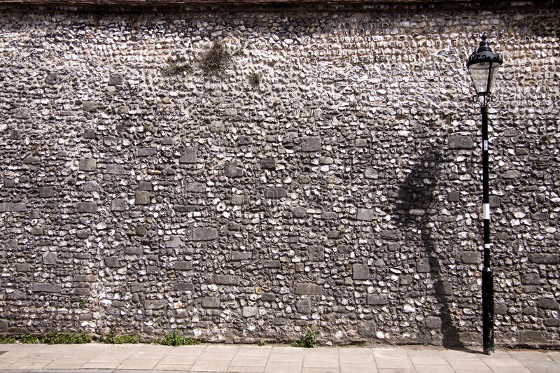 Download Flint wall. stock image. Image of shapes, pattern, architecture - 20142757