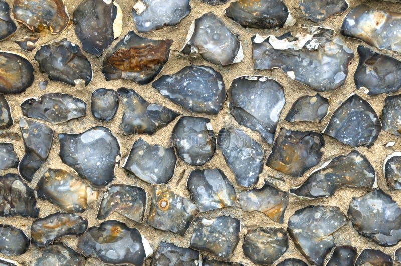 Flint Wall Background. Norfolk,East Anglia royalty free stock photo