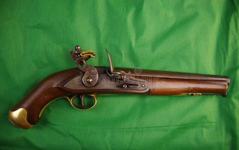 Flintlock Amerikaans pistool, circa 1780, 50 Cal stock afbeelding