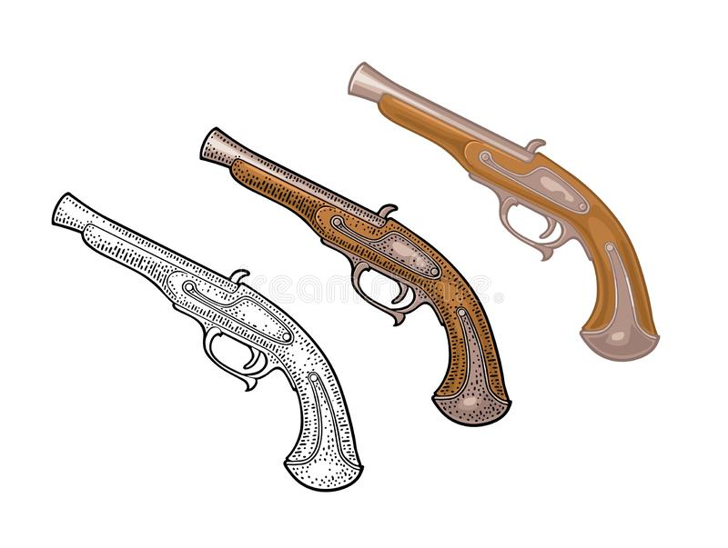 Flintlock Stock Illustrations – 271 Flintlock Stock