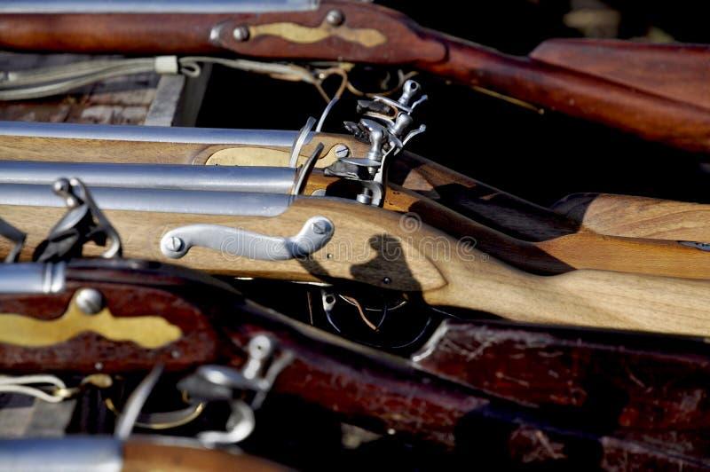Flintlock geweer met royalty-vrije stock foto