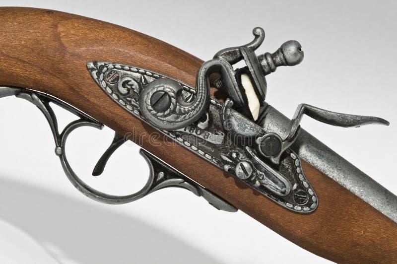 flintlockpistol arkivfoto