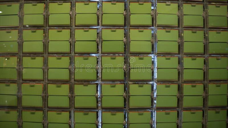 Flip Board Plastic Advertiser verde fotos de archivo libres de regalías