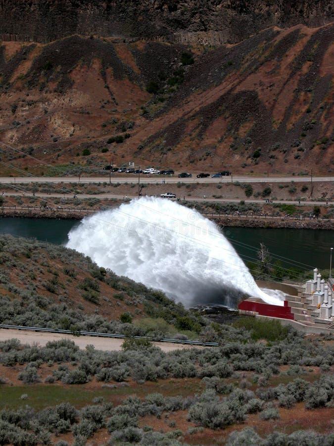 Flip-Bucket Spillway stock photography
