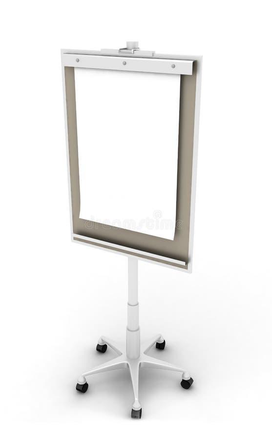 Flip chart. On white background stock photography