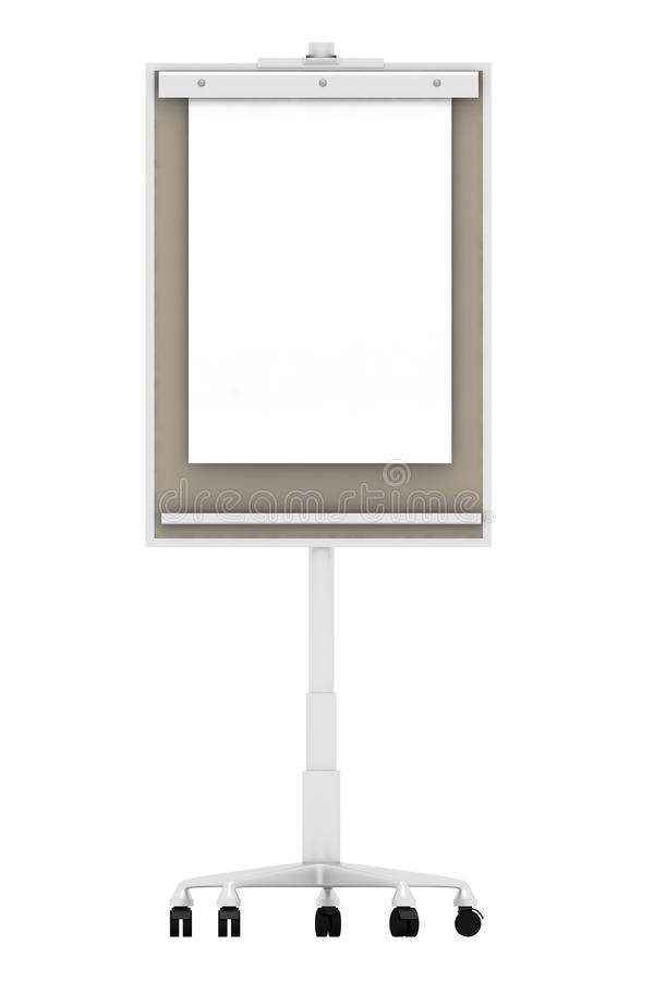 Flip chart. On white background royalty free stock images