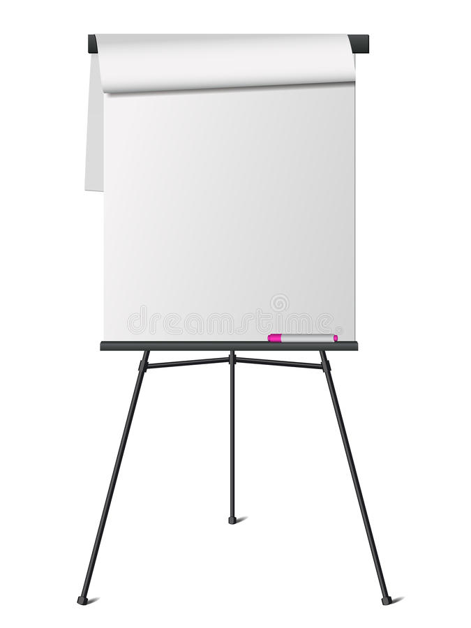 Flip chart stock illustration