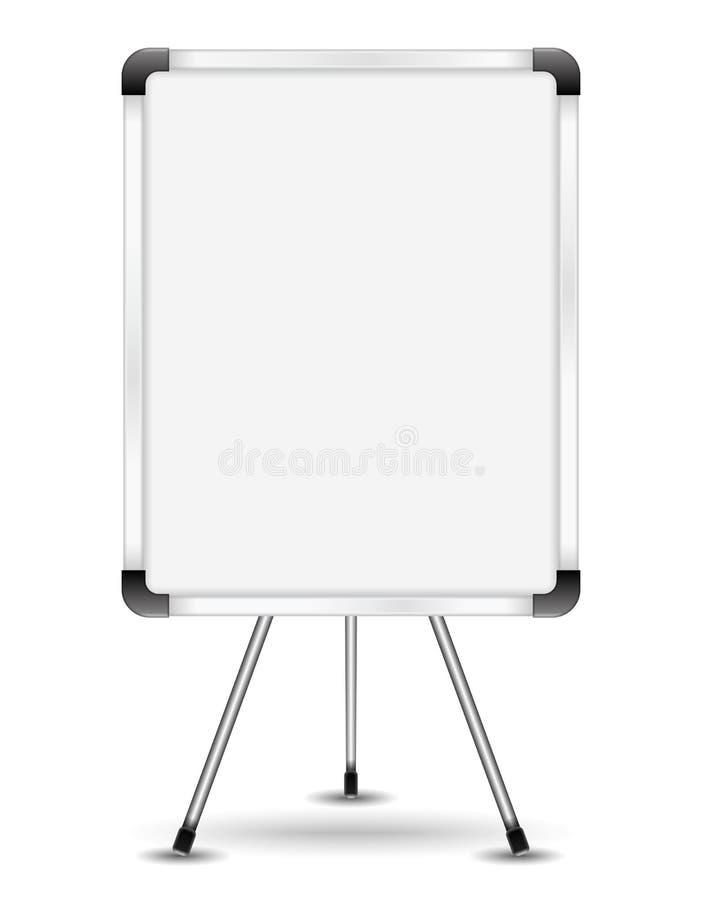Flip chart. On white background vector illustration