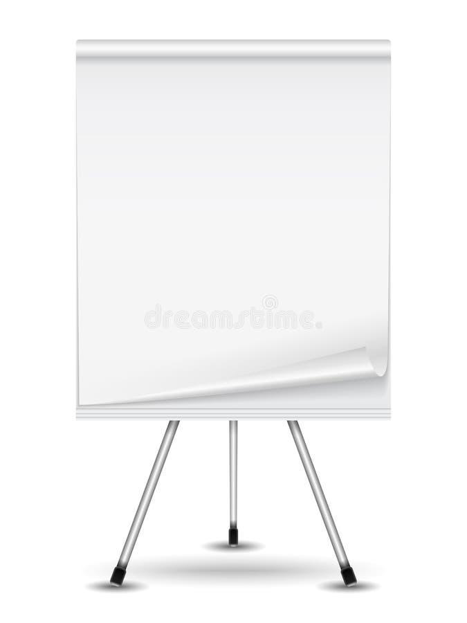 Flip chart. On white background royalty free illustration