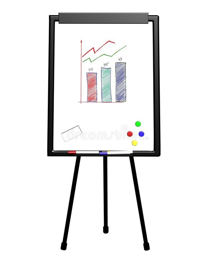 Flip-Chart getrennt auf Weiß stock abbildung