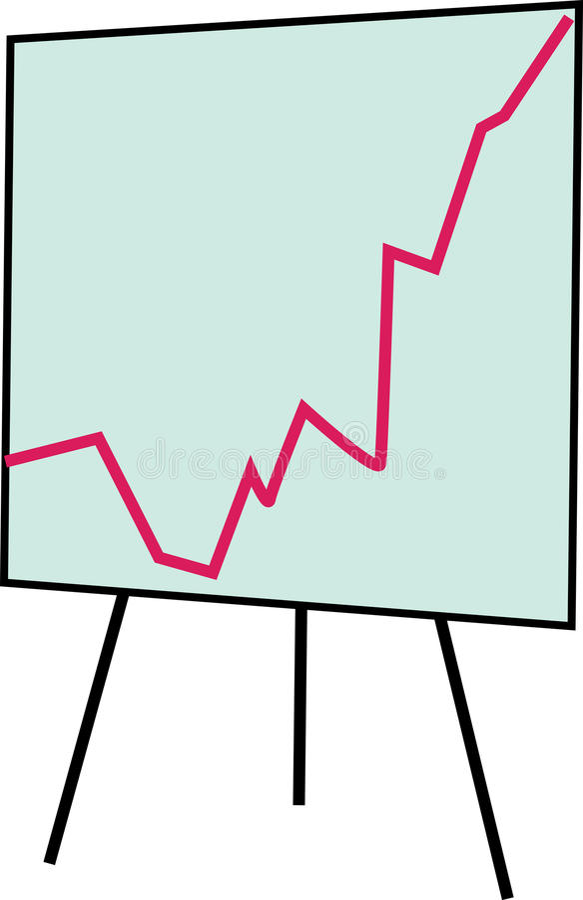 Flip Chart Graph illustration de vecteur