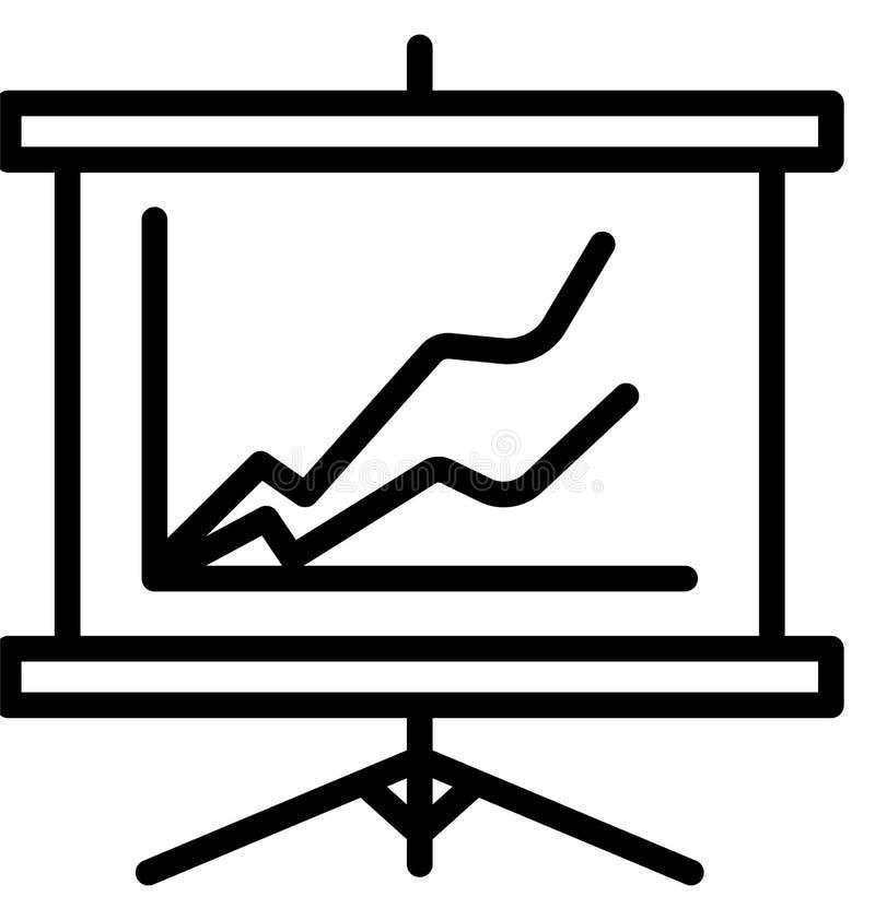 Flip Chart Line Isolated Vector symbol som kan lätt ändras eller redigera vektor illustrationer