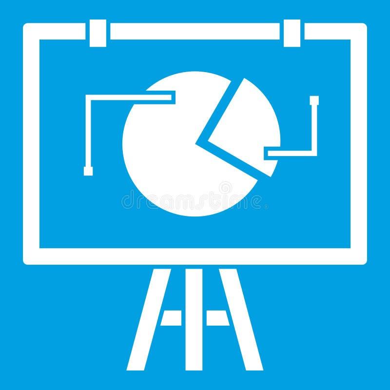Flip-Chart mit Statistikikonenweiß stock abbildung