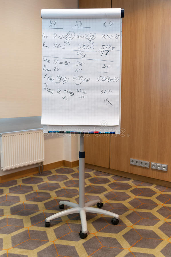 Flip chart royalty free stock photography