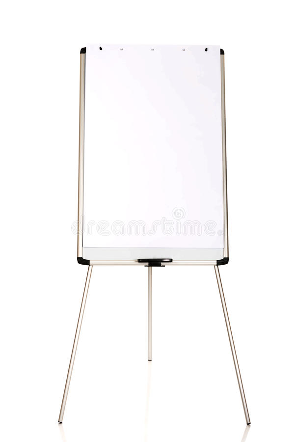 Flip chart standing on the floor royalty free stock photography