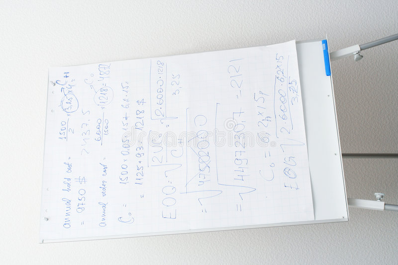 Flip Chart With Text Stock Images