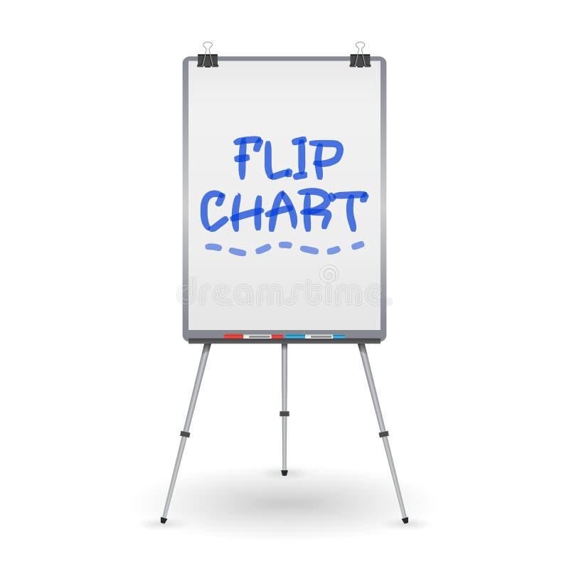 Flip Chart Vector. Office Whiteboard For Business Training. Illustration vector illustration