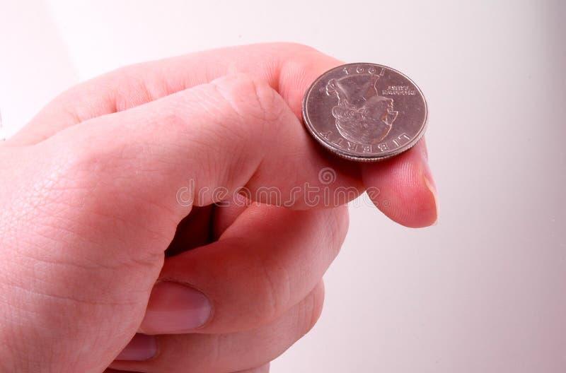 Flip a coin royalty free stock photo