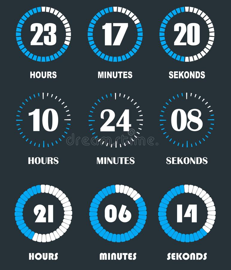 Flip countdown clock counter timer vector illustration