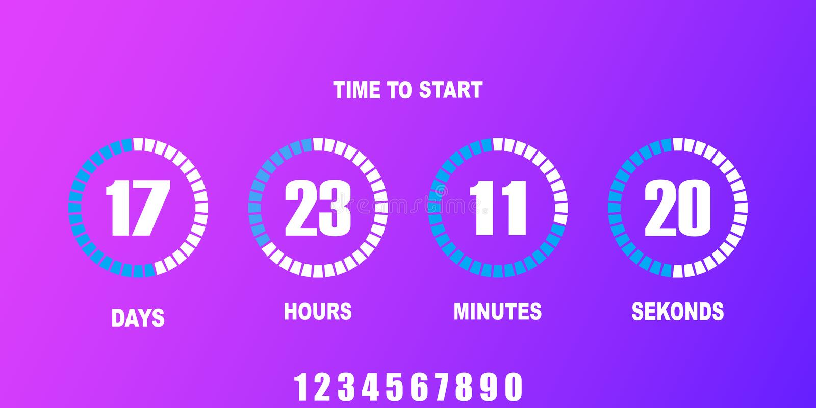 Flip countdown clock counter timer royalty free illustration