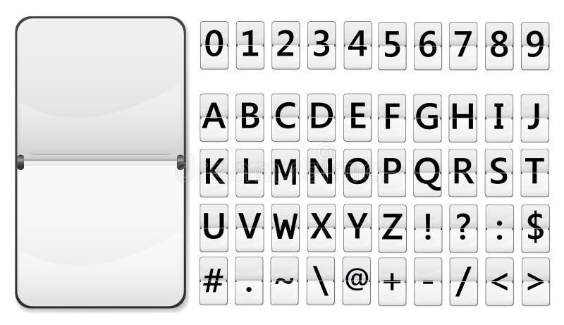 Download Flip display stock vector. Image of background, figure - 18499480