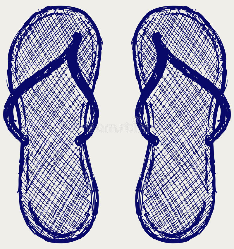 Flip flop stock illustration