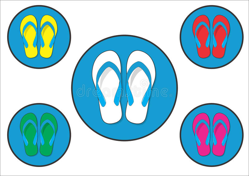 Flip flop Colorful royalty free stock images